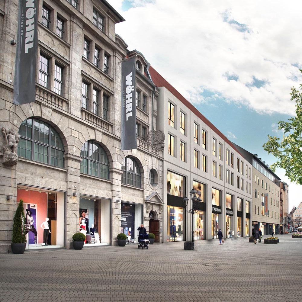 RÖDL Hochbau neues Projekt: Wohn- und Geschäftshaus am Nürnberger Ludwigsplatz