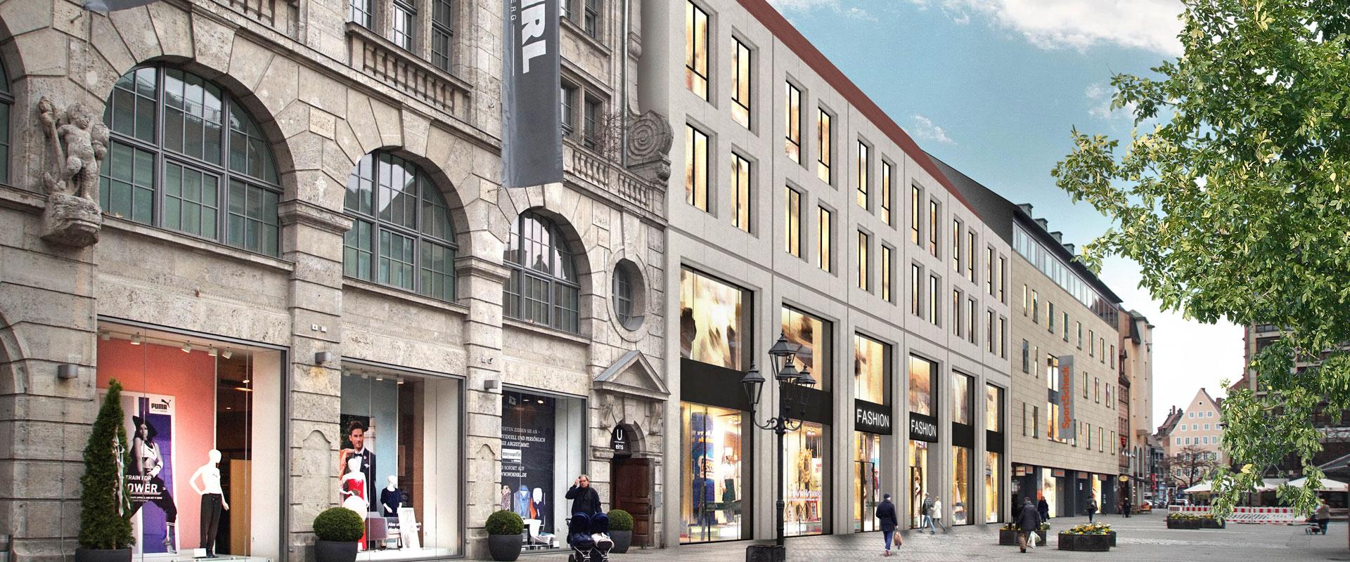 Wohn- und Geschäftshaus mitten in Nürnberg am Ludwigsplatz