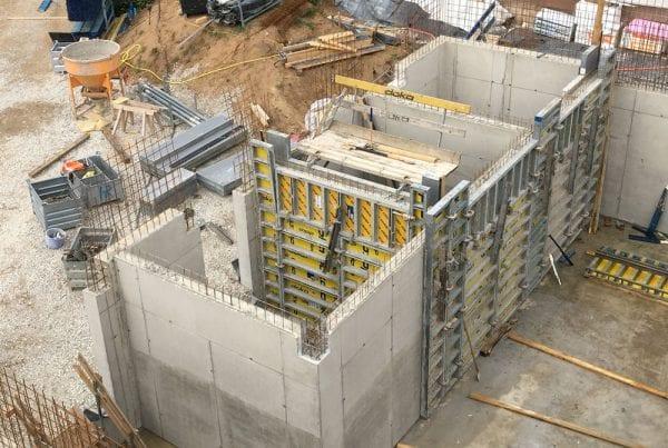"""Aufbereitungsgebäude Wasserwerk """"Knoblauchsland"""", Filterhalle"""