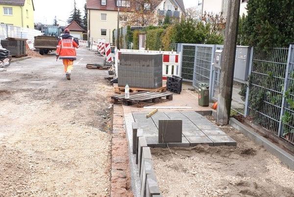 Rödl Referenz: Umbau der Dottenheimer Straße in Nürnberg, Betonleistensteine herstellen