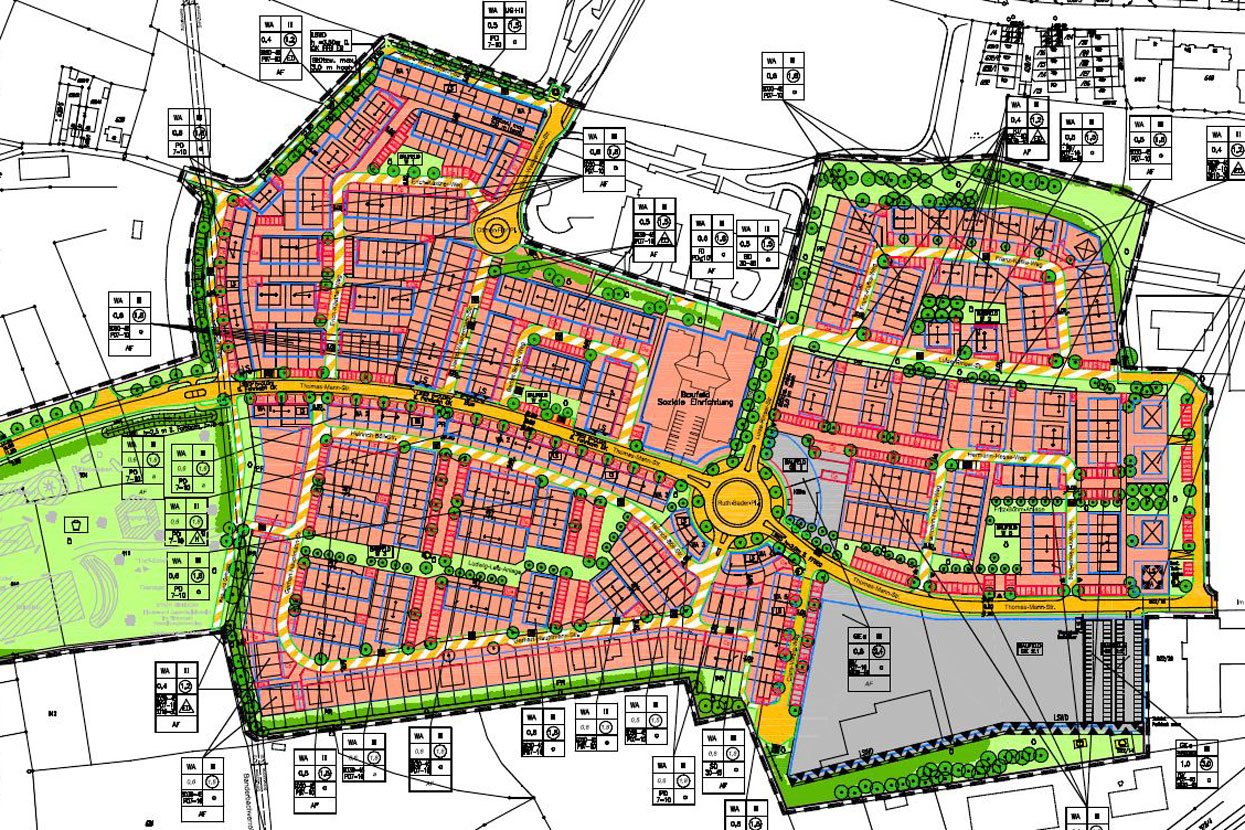 Rödl Geschichte: Entwicklung des Pinderparks Reihenhäuser mit insgesamt ca. 90.000 m² Wohnfläche