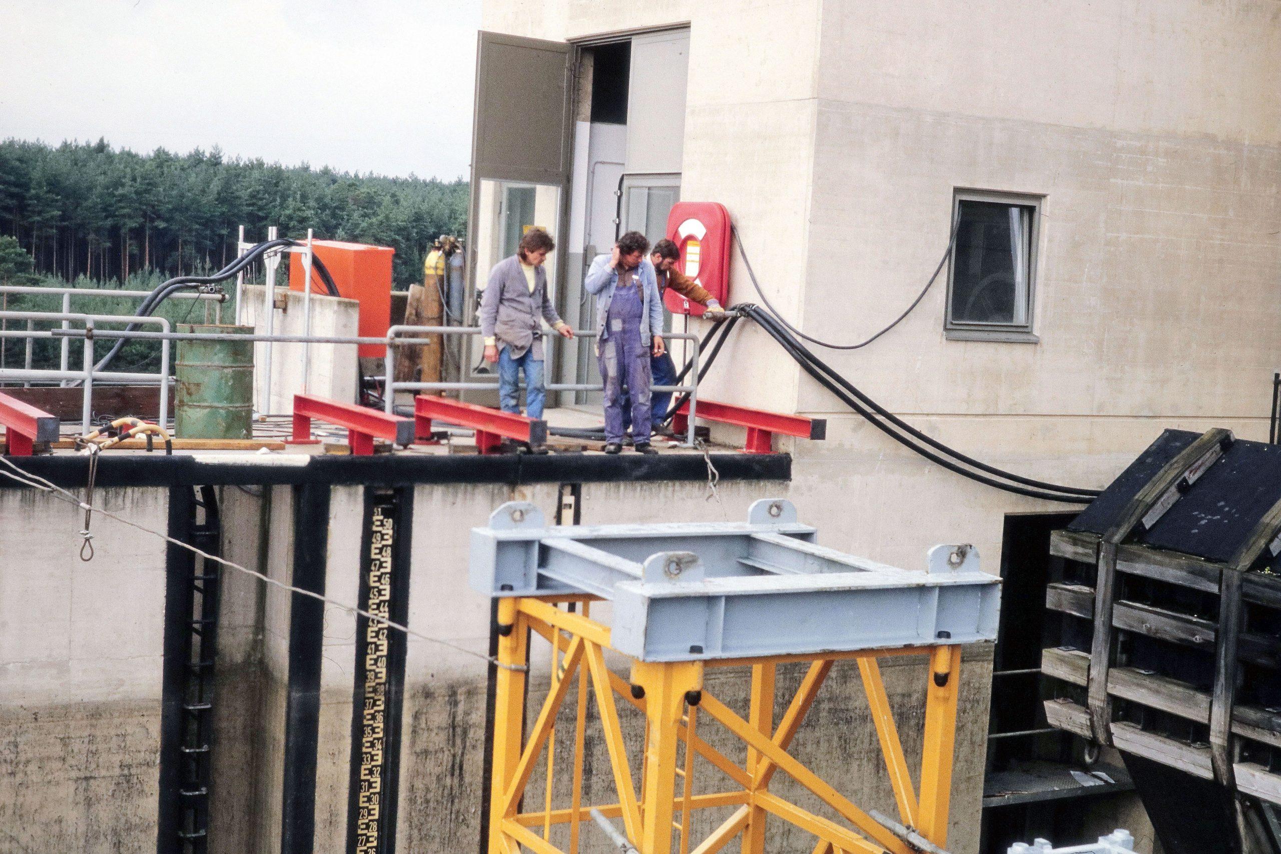 Rödl Geschichte: Sanierung der Schleuse in Leerstetten